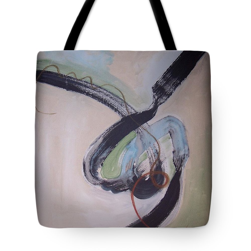 Abstract Paintings Tote Bag featuring the painting Unaccustomed Thought-abstract Art by Seon-Jeong Kim