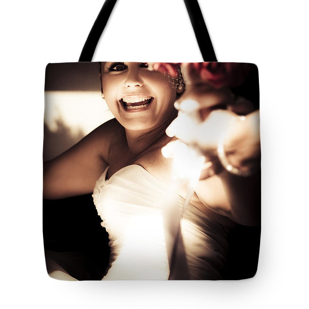 Caucasian Tote Bag featuring the photograph Unbridled Joy by Jorgo Photography - Wall Art Gallery