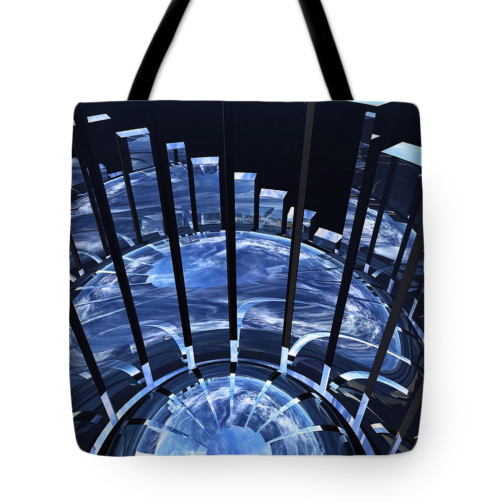 Abstract Tote Bag featuring the digital art Uncertainty by Richard Rizzo