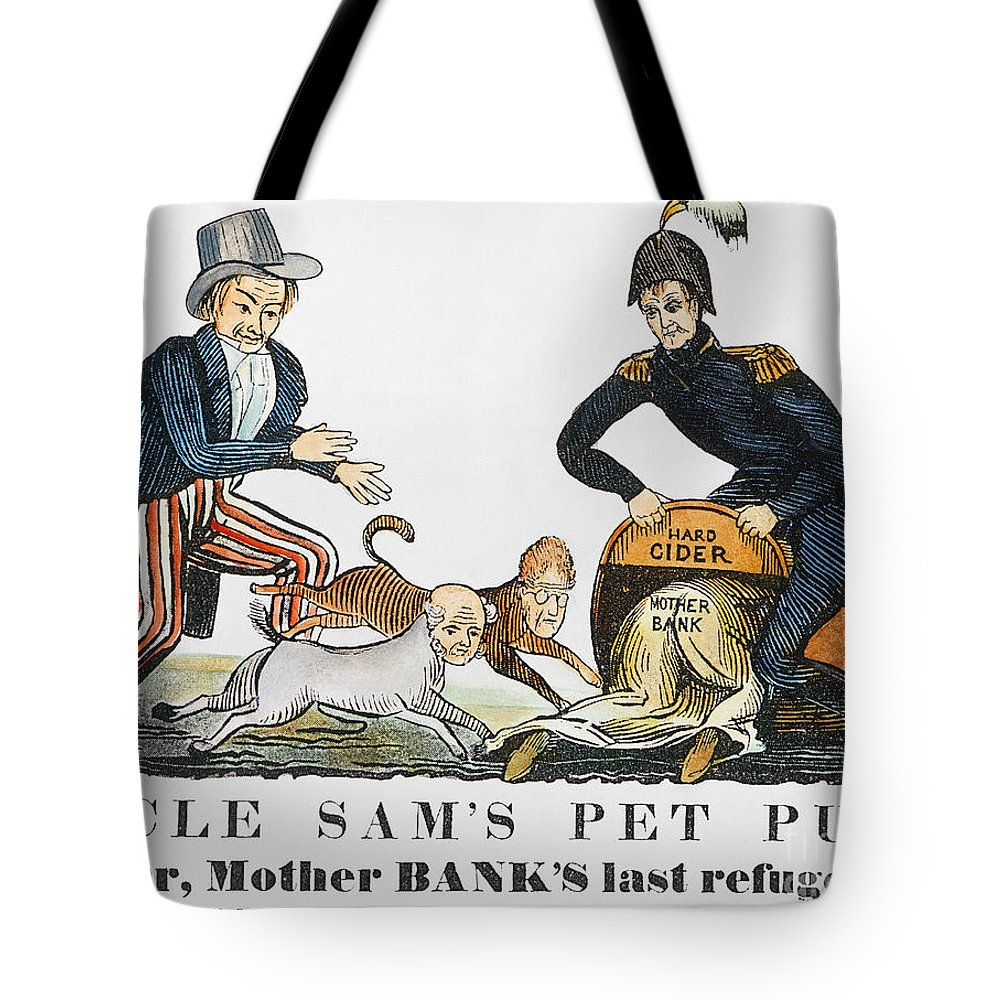 1840 Tote Bag featuring the photograph Uncle Sam: Cartoon, 1840 by Granger