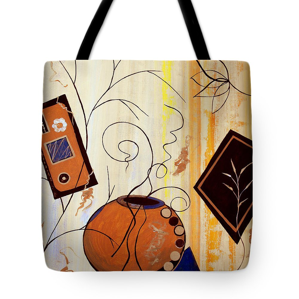 ruth Palmer Tote Bag featuring the painting Unconstrained by Ruth Palmer