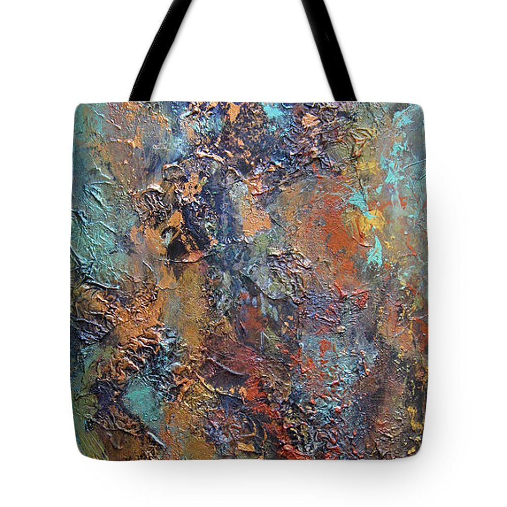 Abstract Tote Bag featuring the painting Undefined Conclusion II by Roberta Rotunda