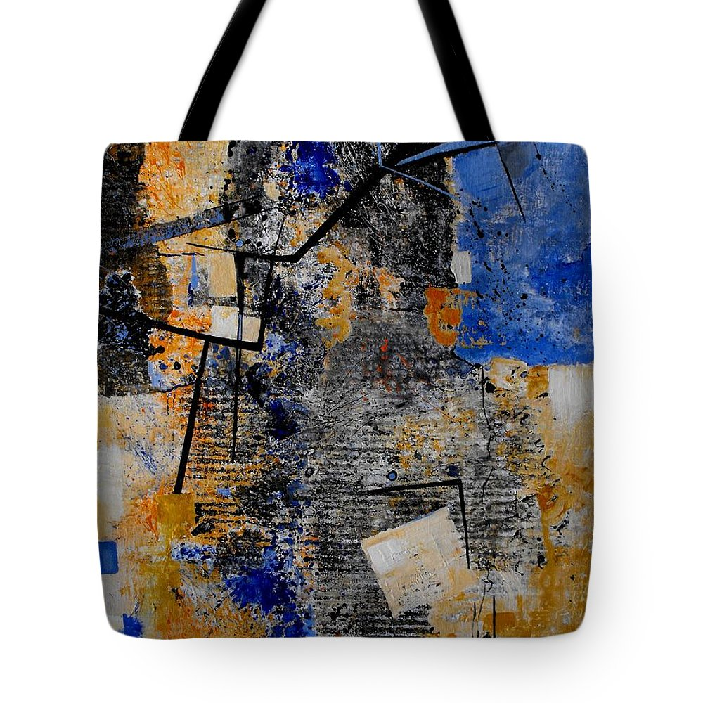 Abstract Tote Bag featuring the painting Under Construction by Ruth Palmer