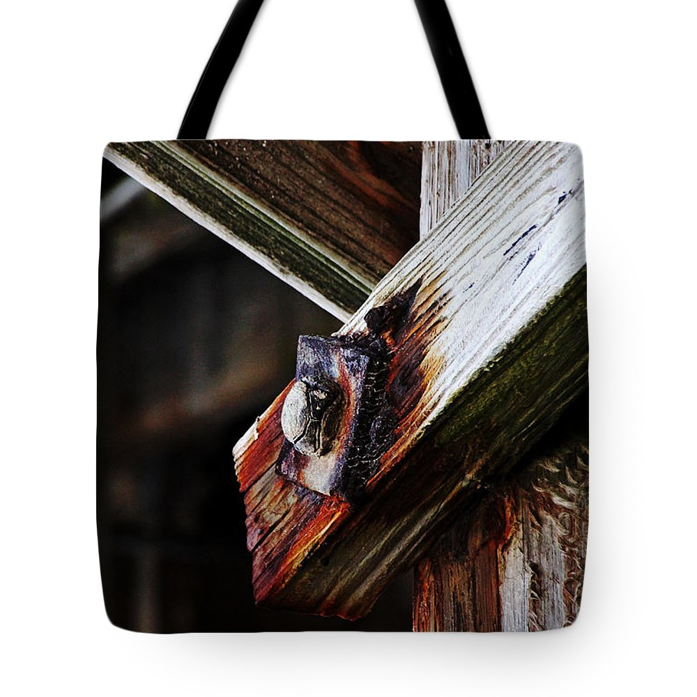 Abstract Tote Bag featuring the photograph Under The Boardwalk by Debbie Oppermann
