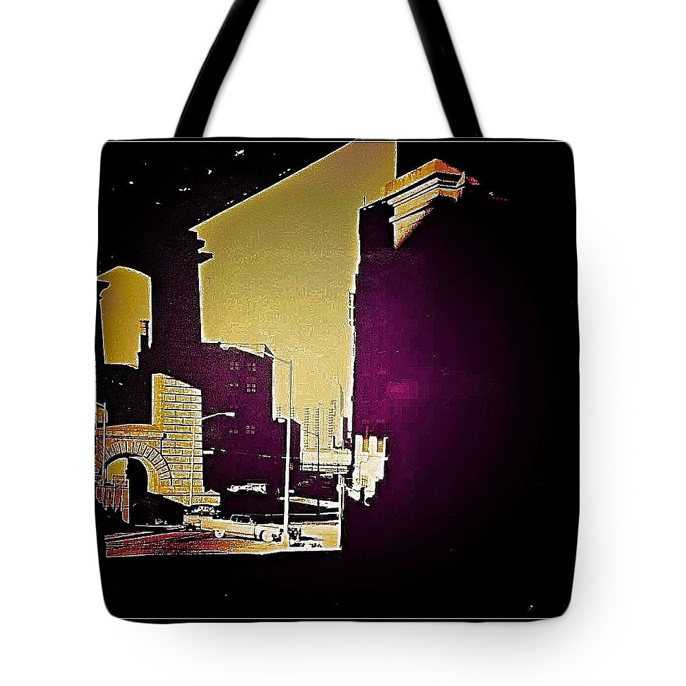 New York Tote Bag featuring the photograph Under The Brooklyn Bridge, 1992 by Christoph H-A