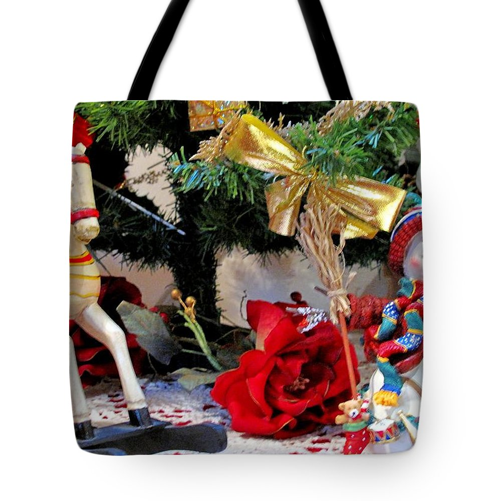 Christmas Tote Bag featuring the photograph Under The Christmas Tree by Ian MacDonald