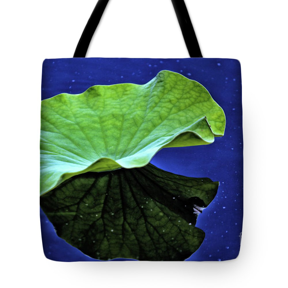 Lily Pad Tote Bag featuring the photograph Under The Lily Pad by Karin Everhart