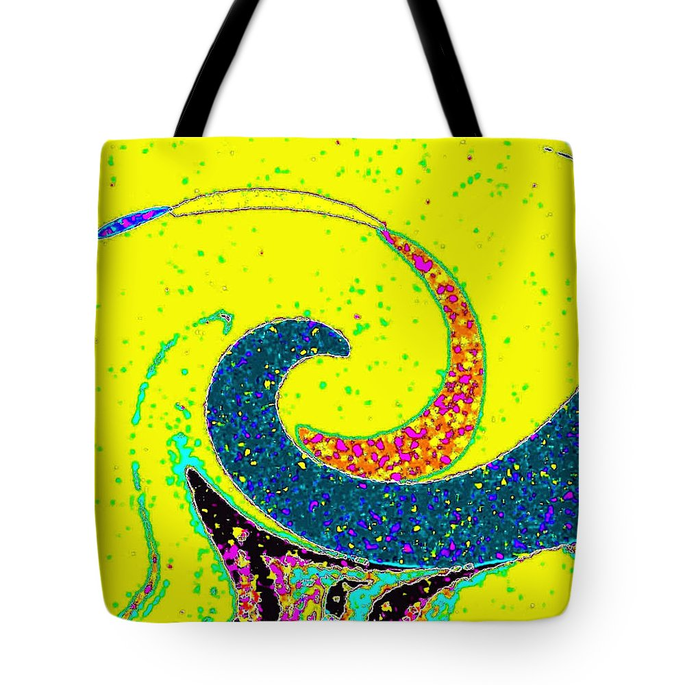 Abstract Tote Bag featuring the digital art Under The Microscope by Will Borden