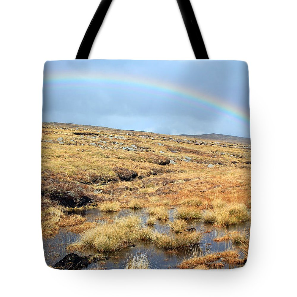 Rainbow Tote Bag featuring the photograph Under The Rainbow by Jennifer Robin