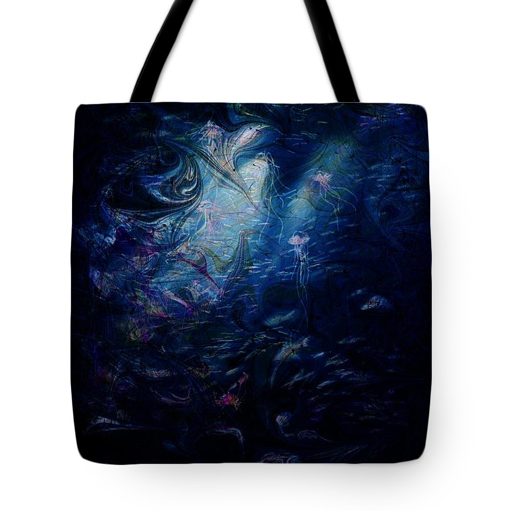 Abstract Tote Bag featuring the digital art Under the Sea by William Russell Nowicki