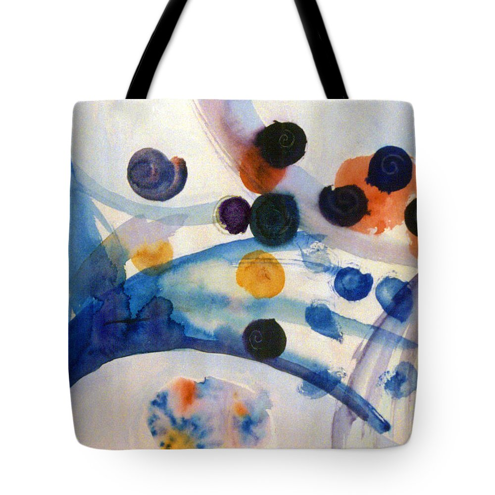 Abstract Tote Bag featuring the painting Under the Sea by Steve Karol