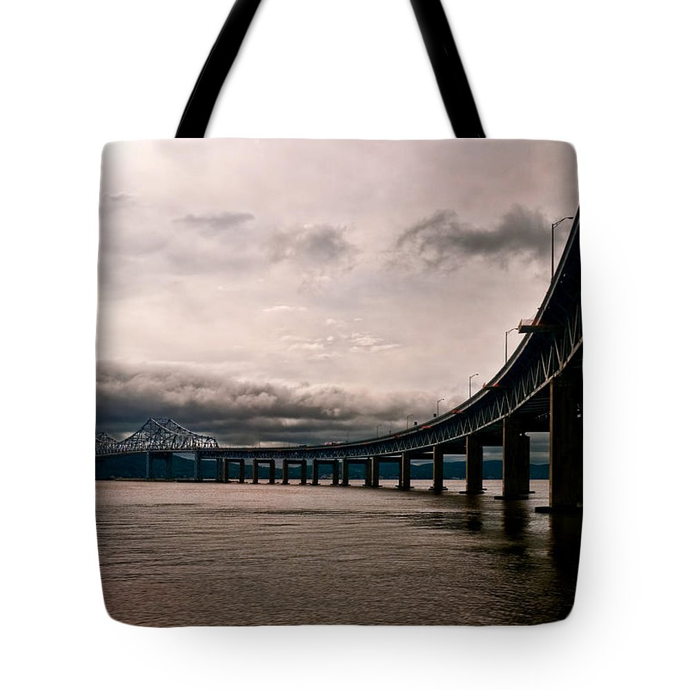 New York Tote Bag featuring the photograph Under The Tappan Zee by S Paul Sahm