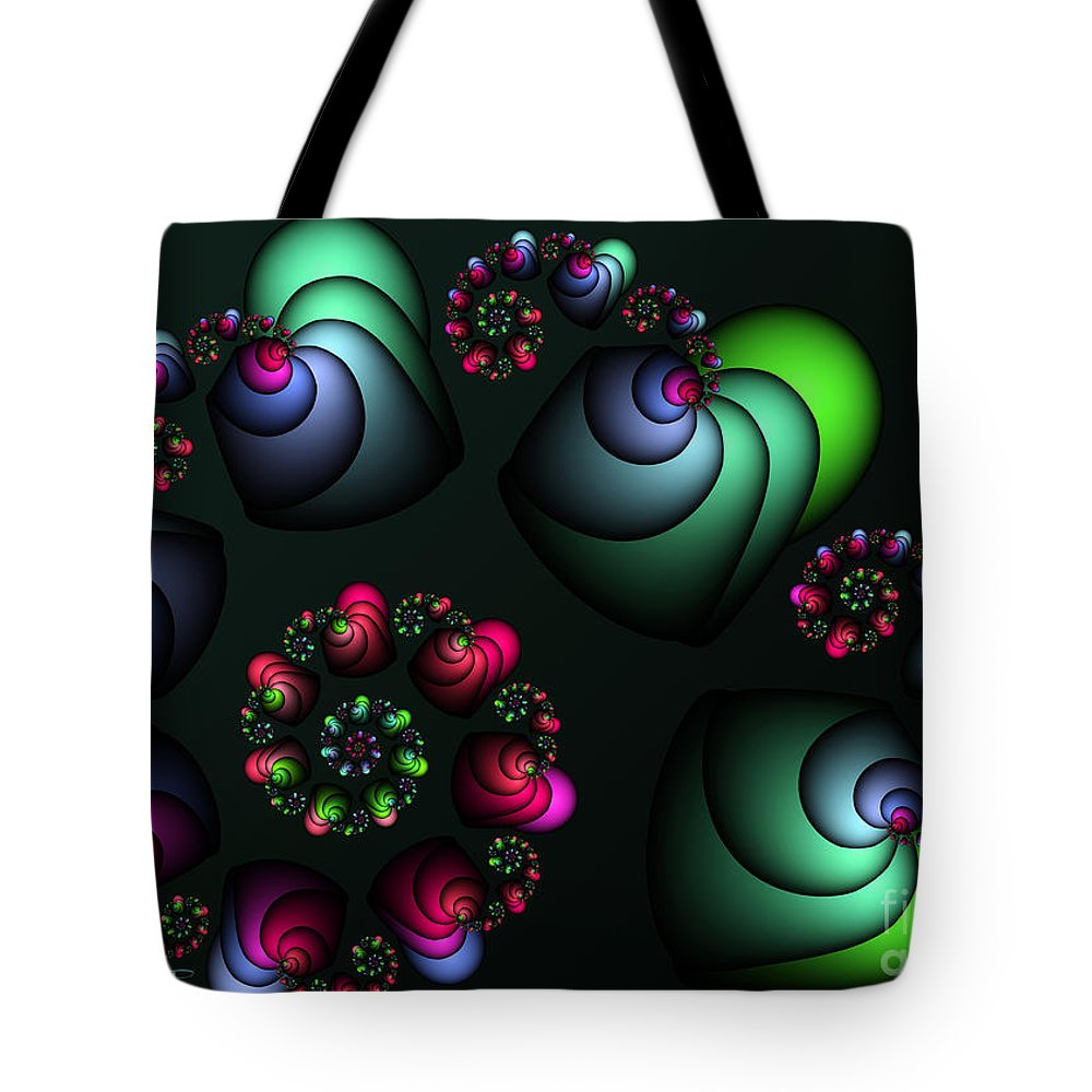 Fractal Tote Bag featuring the digital art Underground Universe by Jutta Maria Pusl