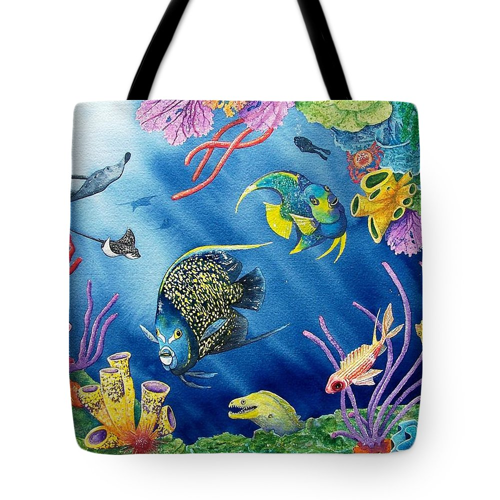 Undersea Tote Bag featuring the painting Undersea Garden by Gale Cochran-Smith