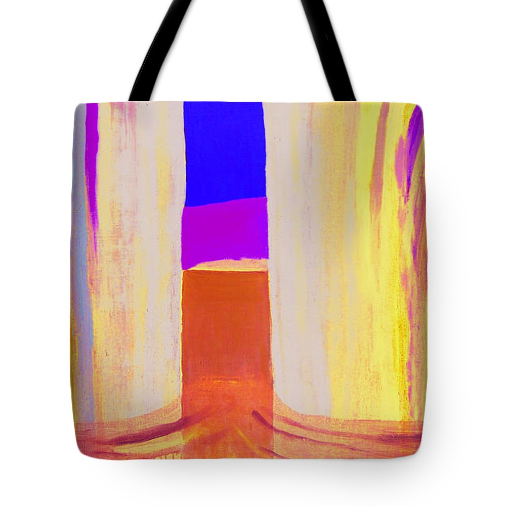 Landscape. Norwegian Title dragsug Tote Bag featuring the painting Undertow. by Jarle Rosseland