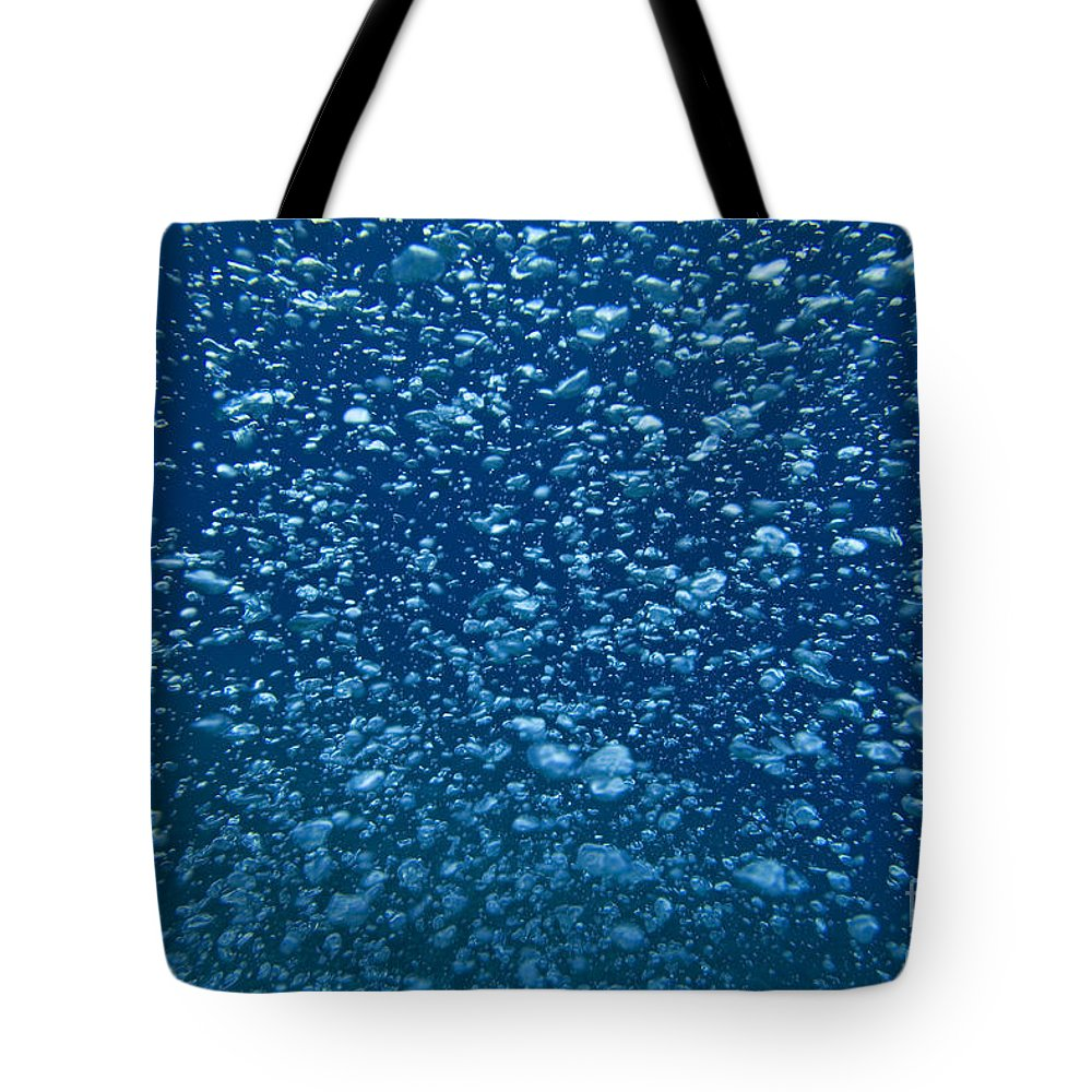 Air Tote Bag featuring the photograph Underwater Bubbles by Dave Fleetham - Printscapes
