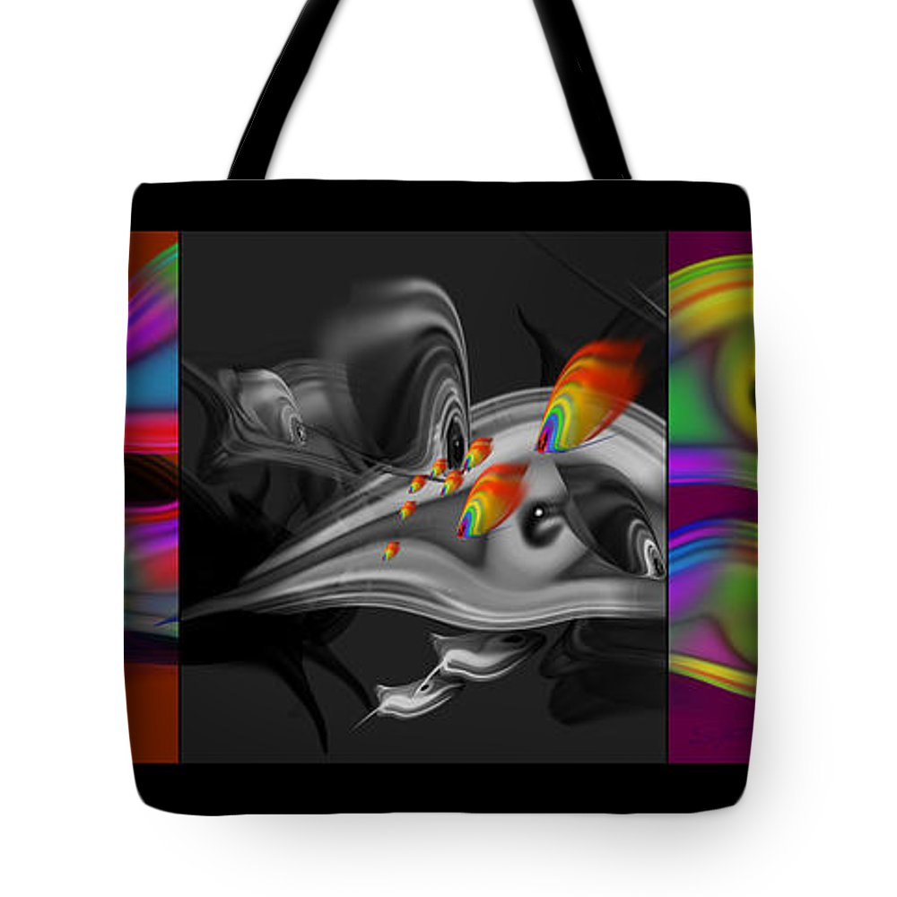 Tropical Fish Tote Bag featuring the painting Underwater Monochrome by Charles Stuart