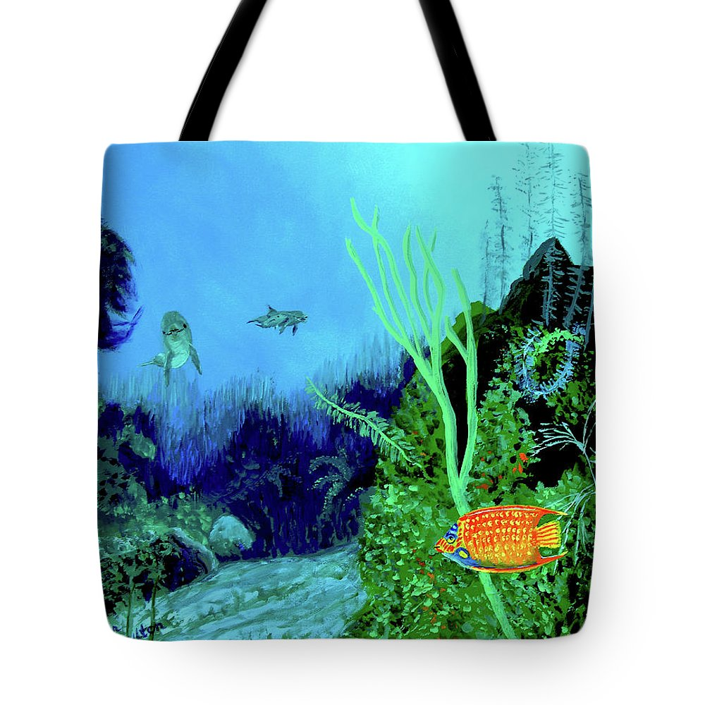 Wildlife Tote Bag featuring the painting Underwater by Stan Hamilton