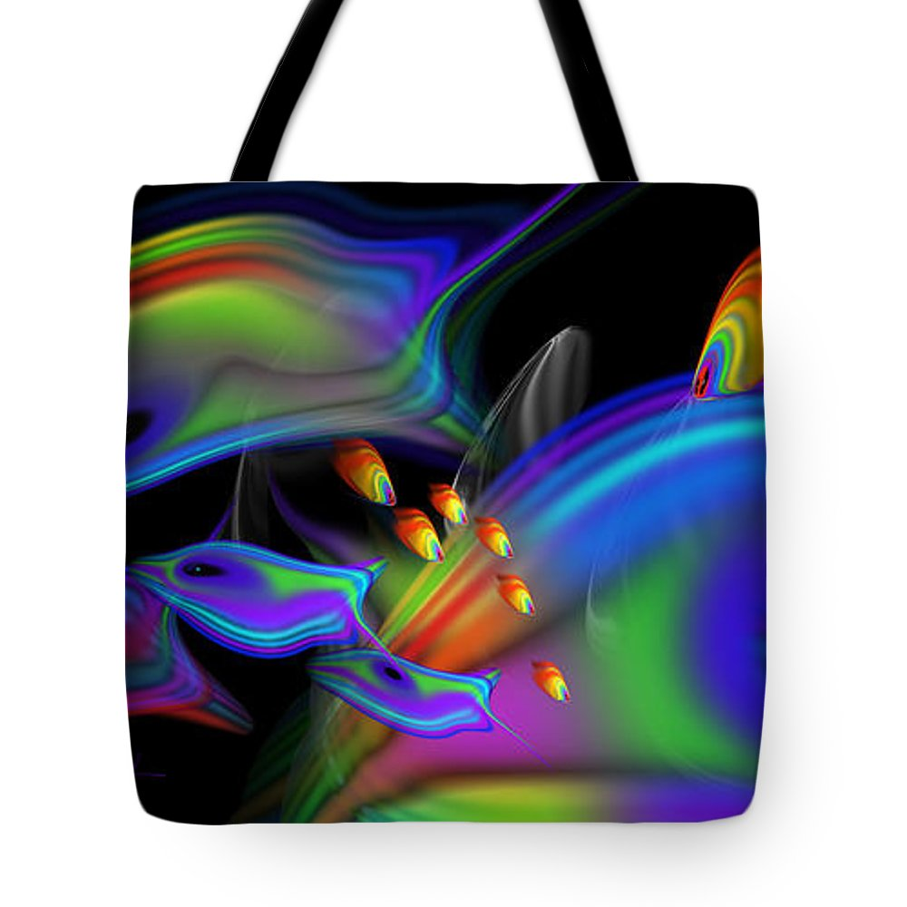 Coral Reef Tote Bag featuring the painting Underwater View 2 by Charles Stuart