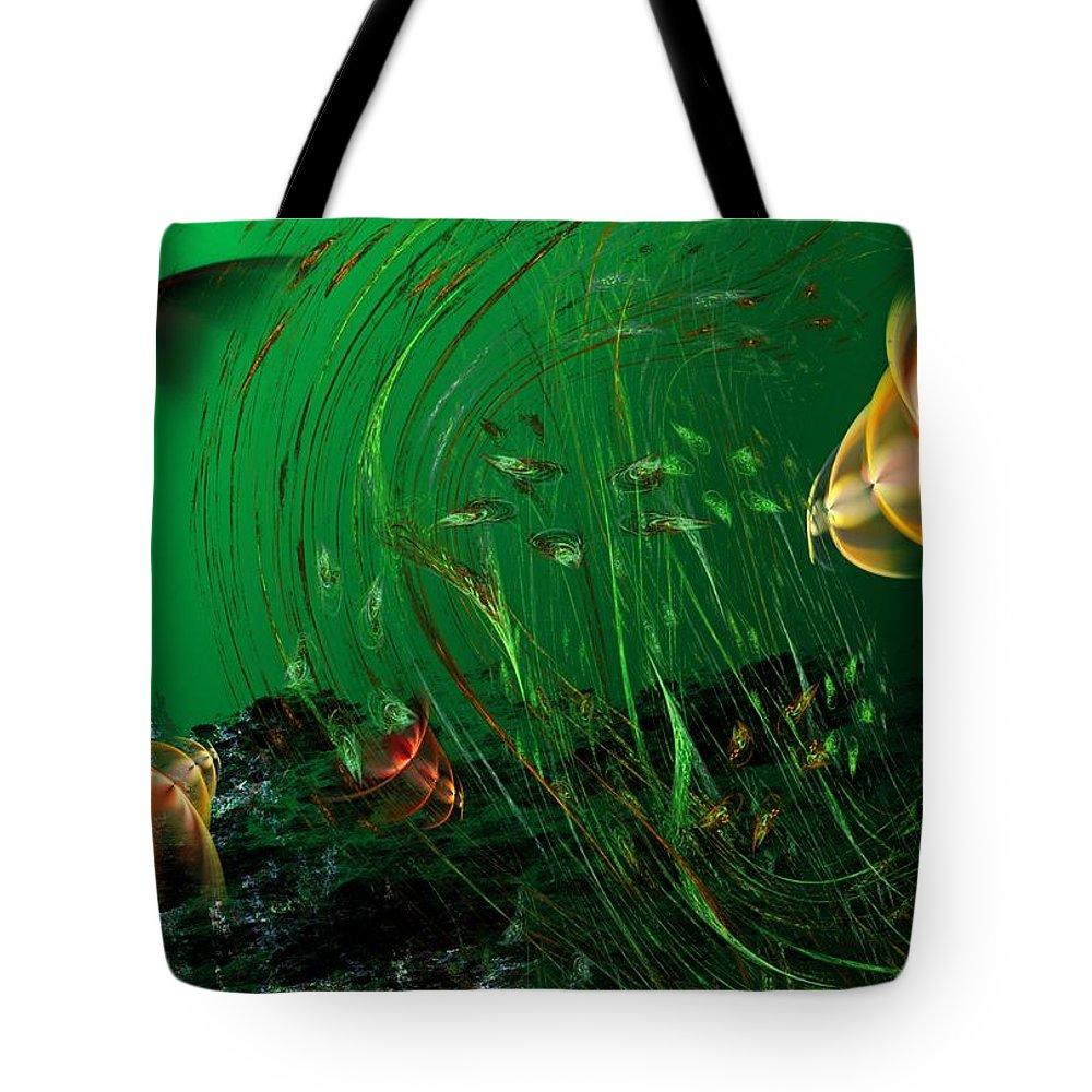Fantasy Tote Bag featuring the digital art Underwater Wonderland Diving The Reef Series. by David Lane