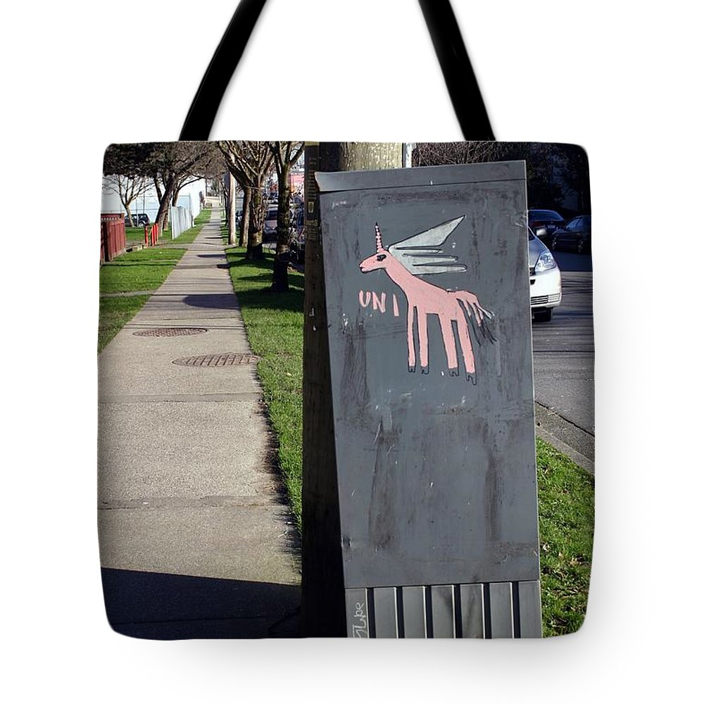 Mail Box Tote Bag featuring the photograph Unicorn Mail Delivery by Minaz Jantz