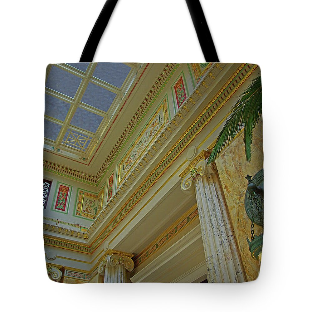 Washington Dc Tote Bag featuring the photograph Union Station Cornice And Columns by Rich Walter