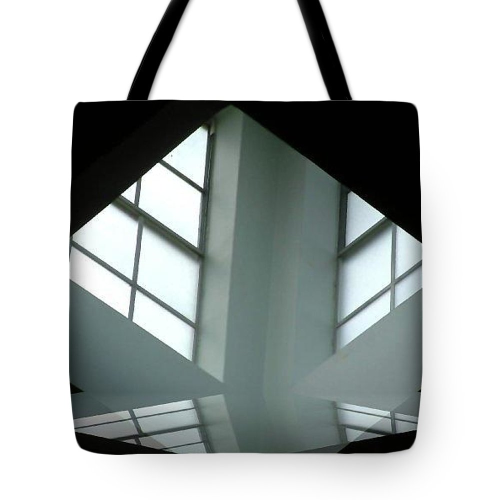 Window Tote Bag featuring the digital art Unitarian Reflections by Amber Stubbs
