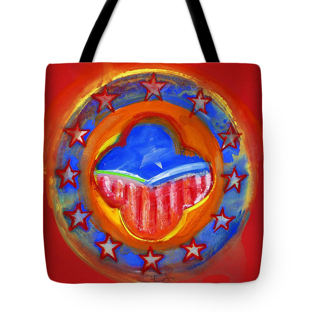 Symbol Tote Bag featuring the painting United States Of Europe by Charles Stuart