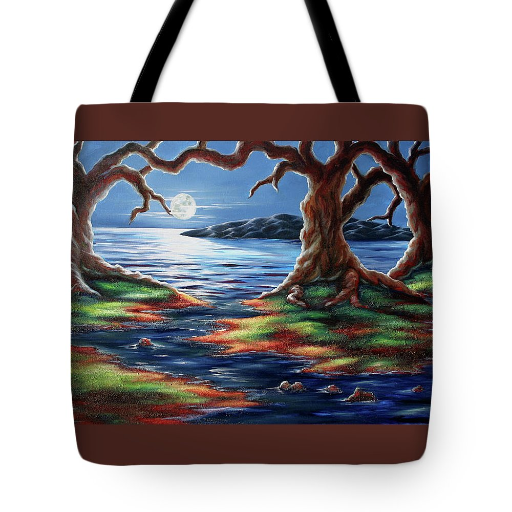 Textured Painting Tote Bag featuring the painting United Trees by Jennifer McDuffie