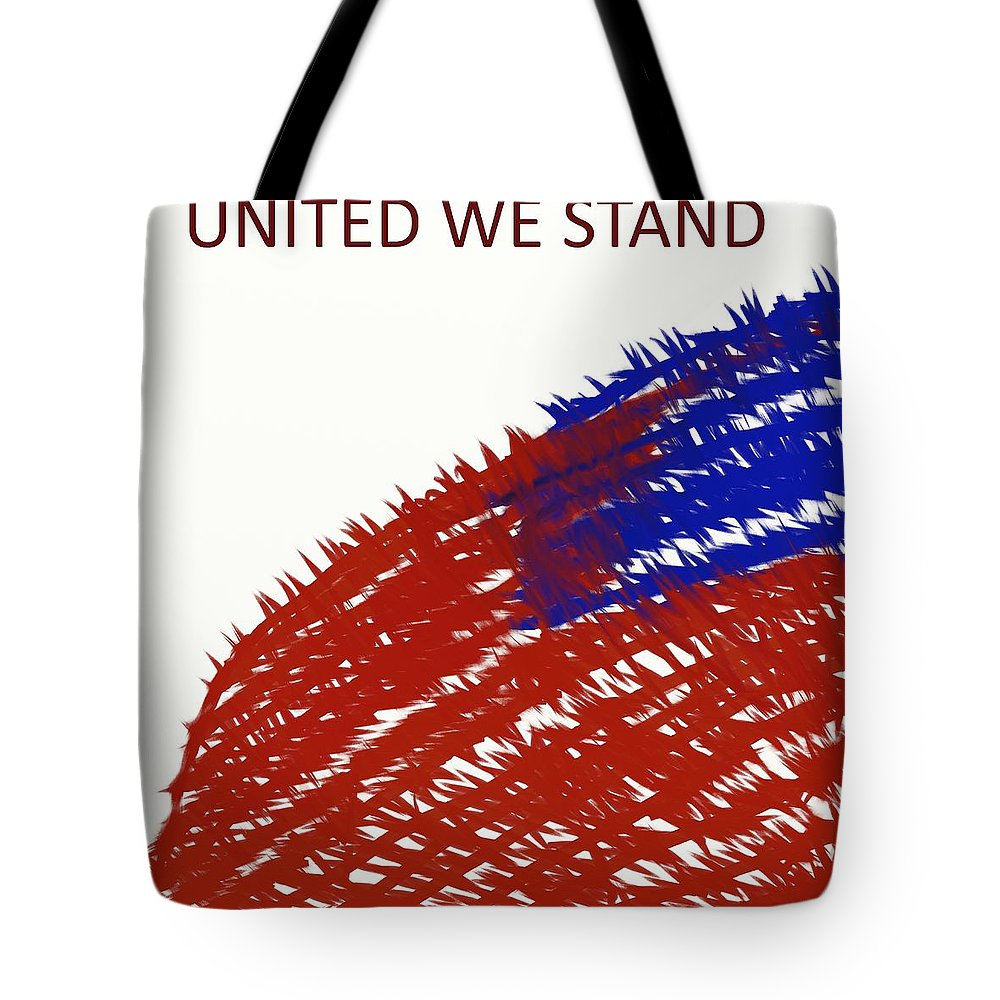 Flag Tote Bag featuring the painting United We Stand by Adam Norman