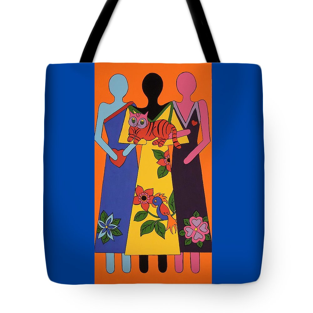 Figures Tote Bag featuring the painting Unity 6 by Stephanie Moore