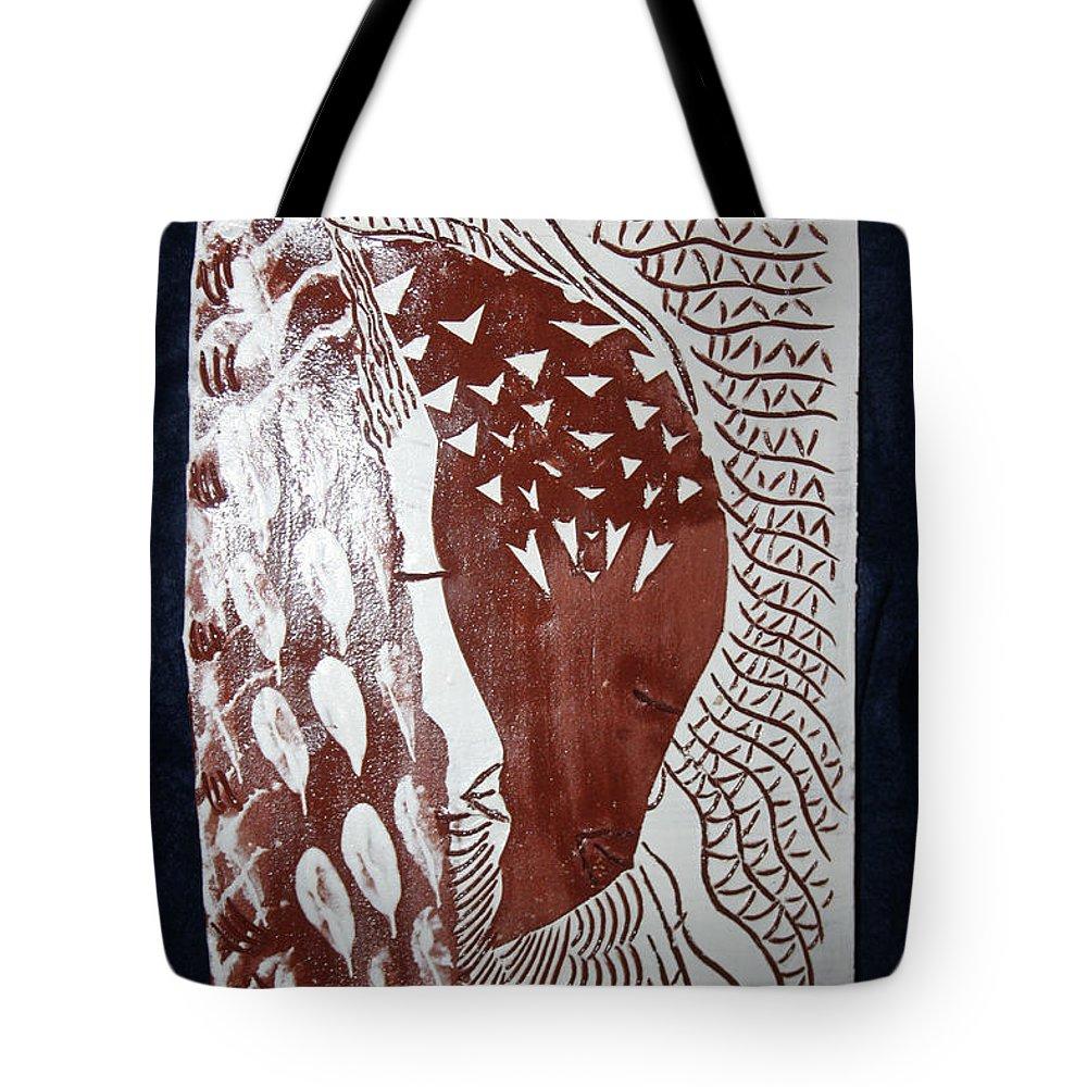 Jesus Lambgloria Photosgloria Photospineapple2pineapple Tote Bag featuring the ceramic art Unity by Gloria Ssali