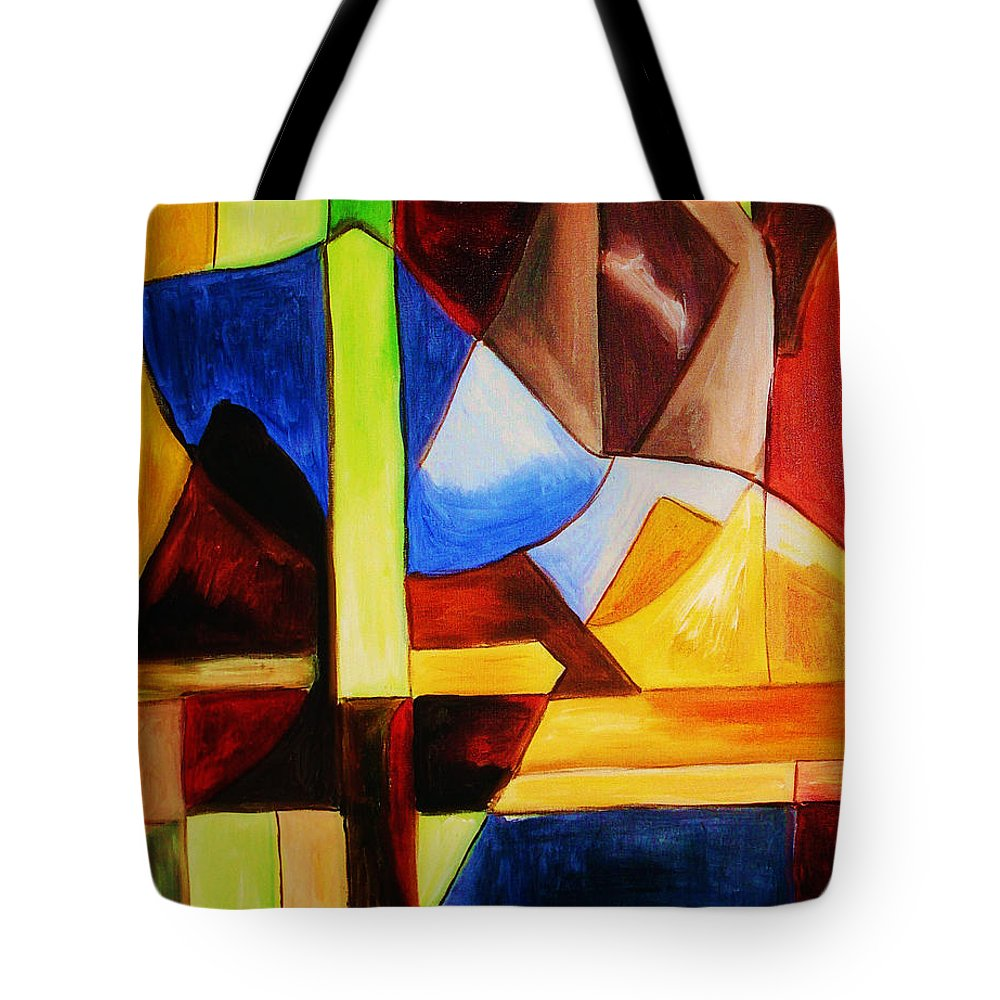 Acrylic Painting Tote Bag featuring the painting Unity by Yael VanGruber