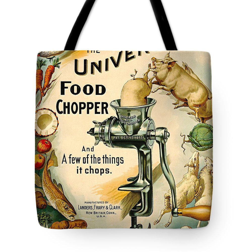 Universal Food Chopper 1897 Tote Bag featuring the photograph Universal Food Chopper 1897 by Padre Art