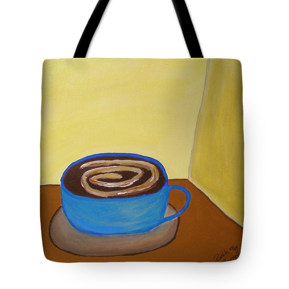 Universal Mocha Tote Bag featuring the painting Universal Mocha by Beth Cornell