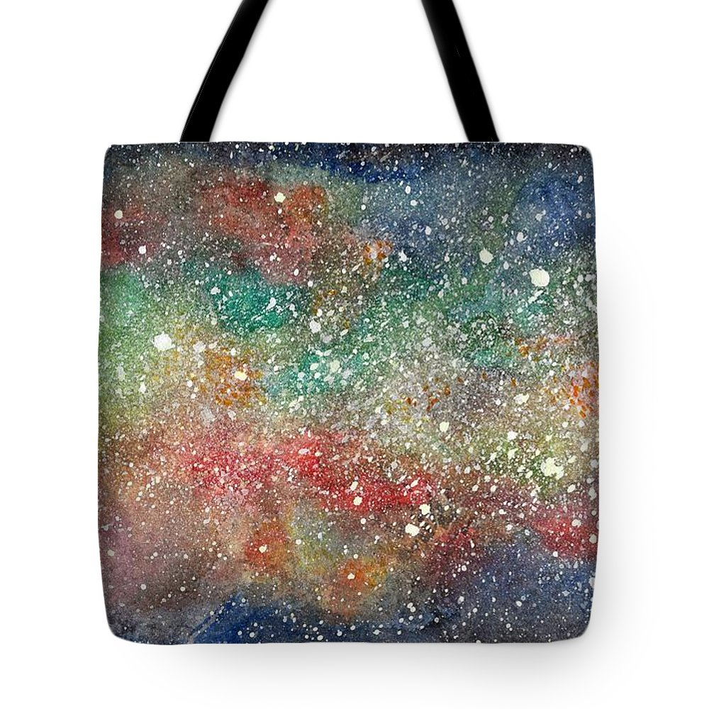 Tote Bag featuring the painting Universe by Amadrys Art