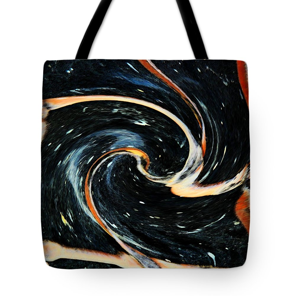 Abstract Tote Bag featuring the digital art Universe In Motion by Lenore Senior
