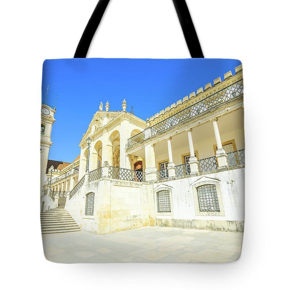 Coimbra Tote Bag featuring the photograph University Of Coimbra by Benny Marty