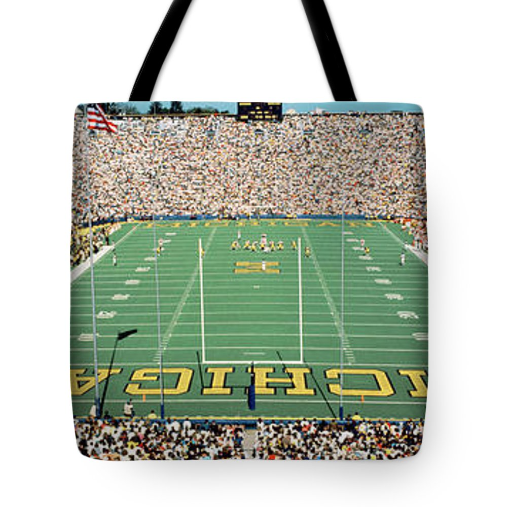 Photography Tote Bag featuring the photograph University Of Michigan Stadium, Ann by Panoramic Images