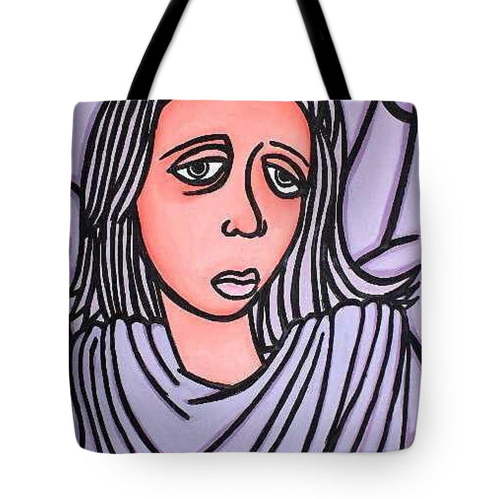 Portrait Tote Bag featuring the painting Unknown by Thomas Valentine