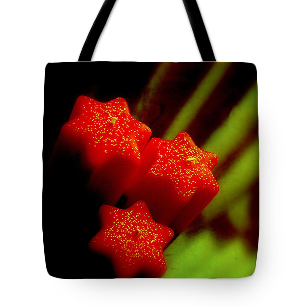 Candles Tote Bag featuring the photograph Unlighted Candles by Susanne Van Hulst