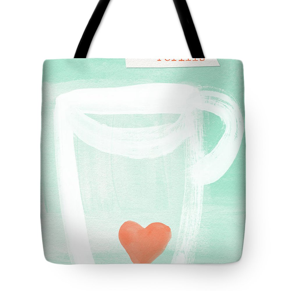 Love Tote Bag featuring the painting Unlimited Refills- Art By Linda Woods by Linda Woods