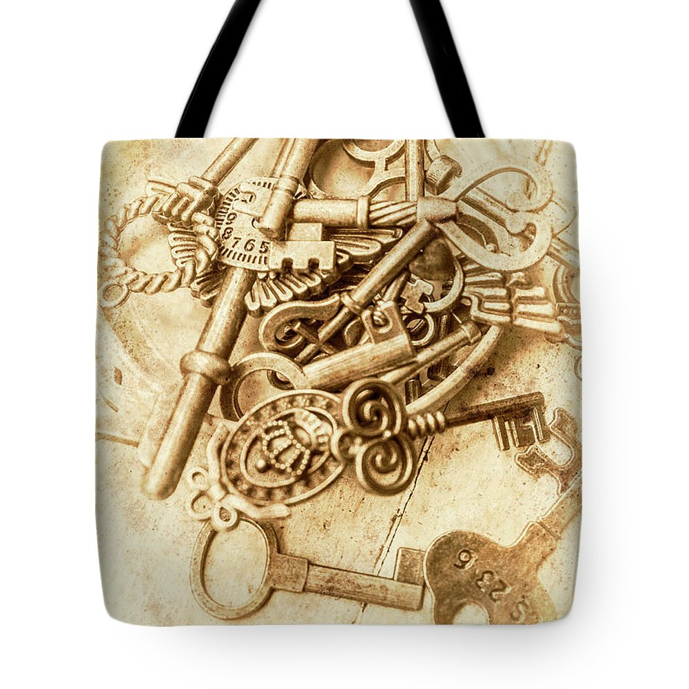 Antique Tote Bag featuring the photograph Unlocking The Past by Jorgo Photography - Wall Art Gallery