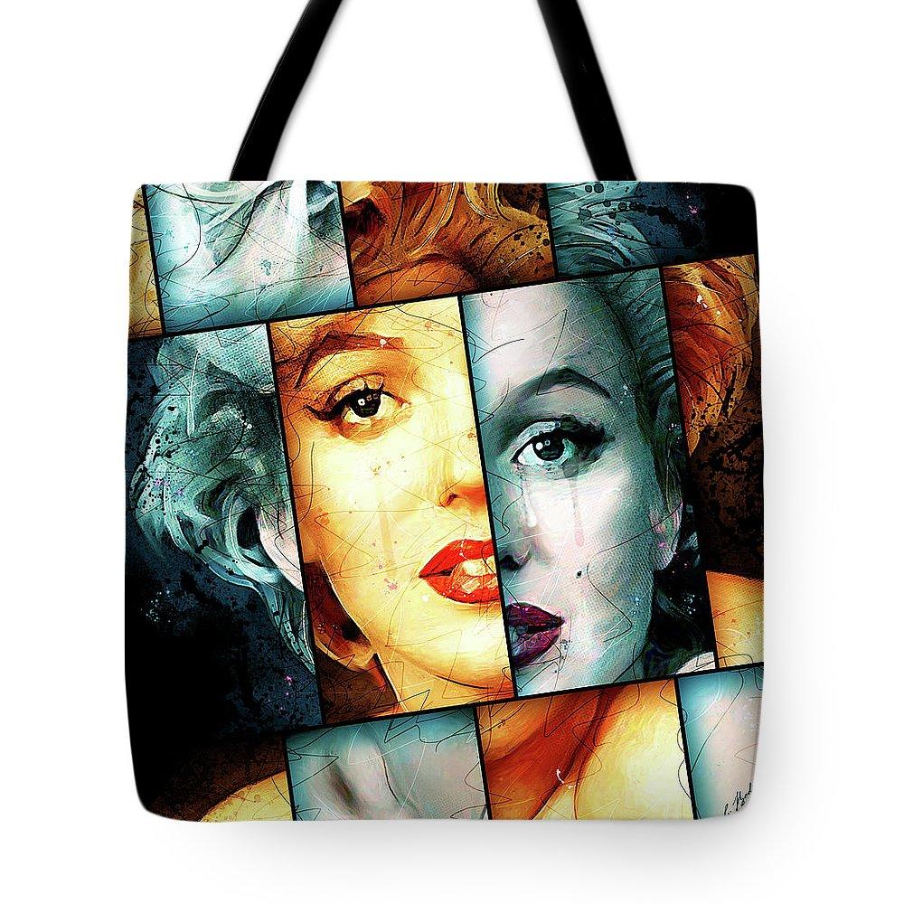 Marilyn Monroe Tote Bag featuring the digital art Monroe by Gary Bodnar