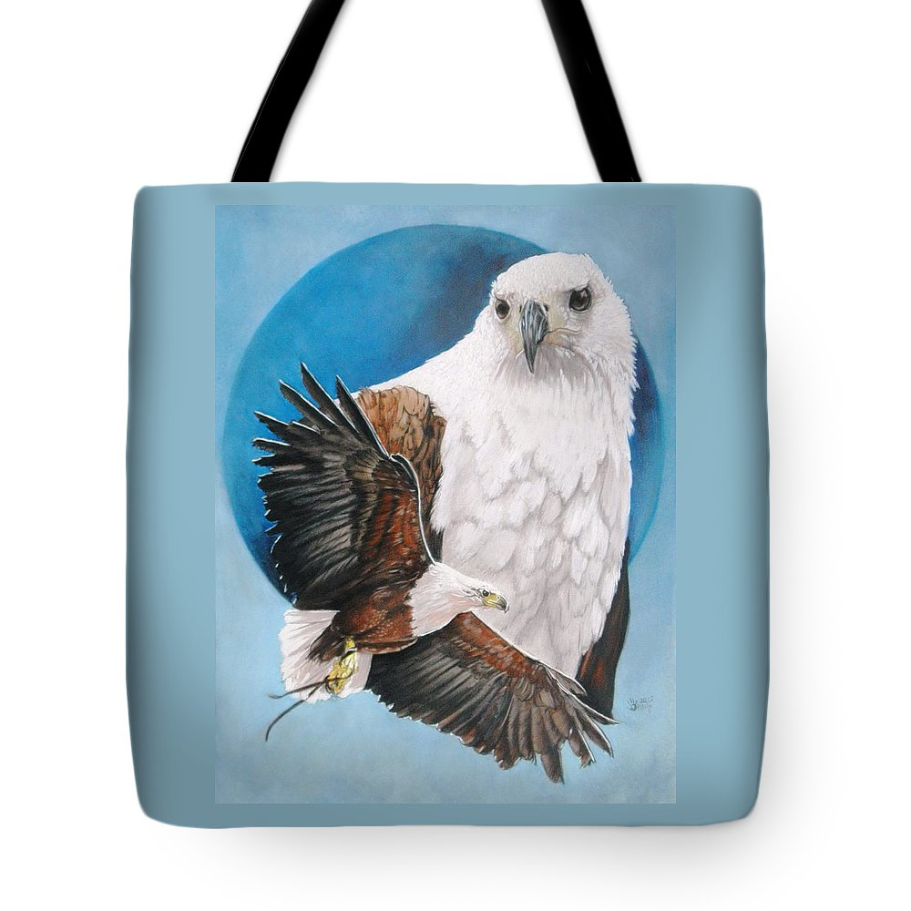 Eagle Tote Bag featuring the mixed media Unrivalled by Barbara Keith