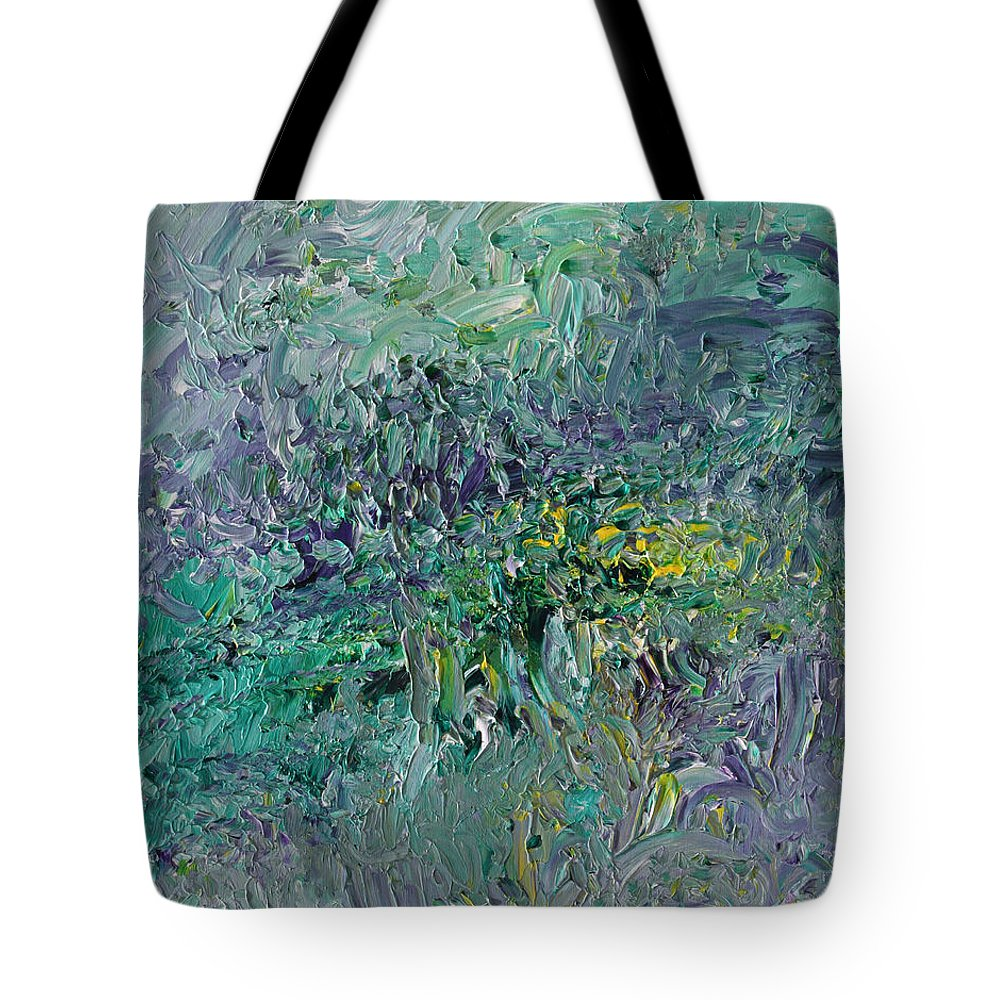 Fusionart Tote Bag featuring the painting Blind Giverny by Ralph White