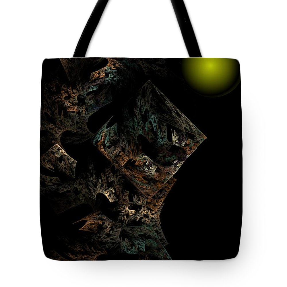 Fantasy Tote Bag featuring the digital art Untitled 12-18-09 by David Lane
