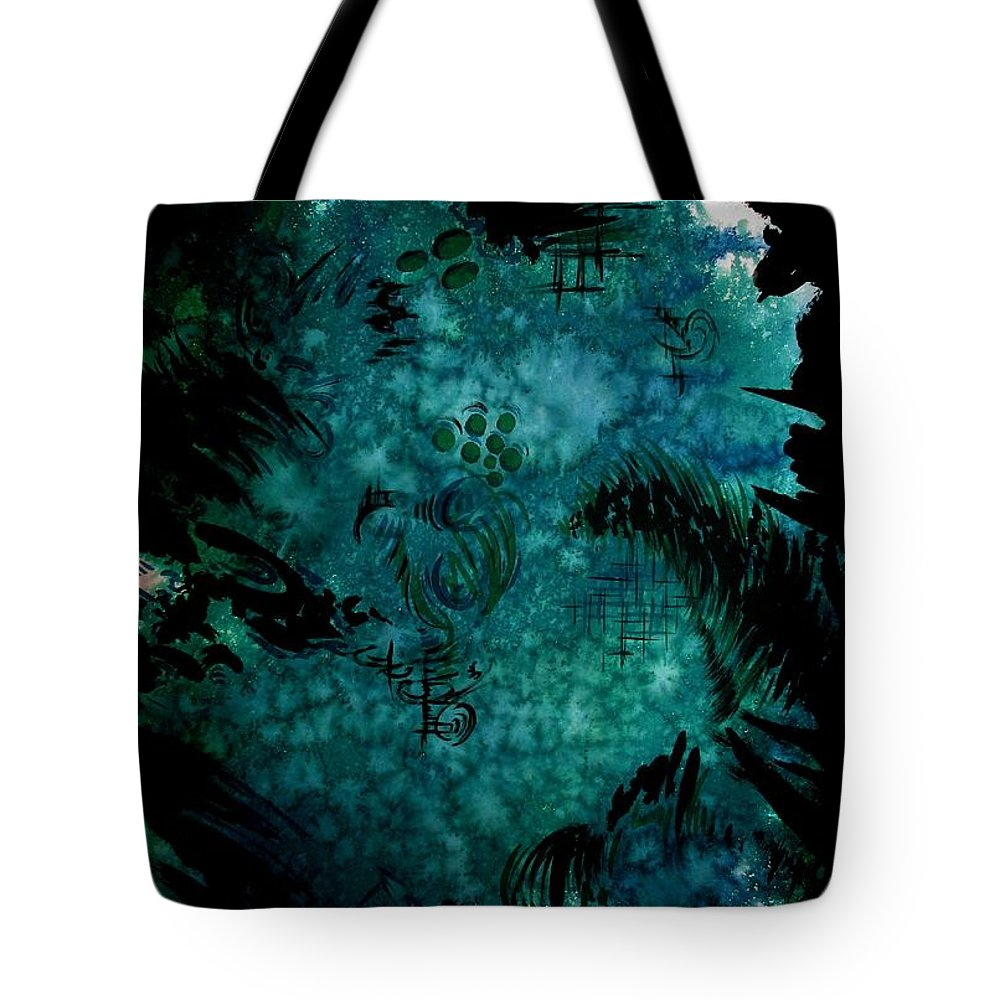 Art Tote Bag featuring the painting Untitled-175 by Tamal Sen Sharma