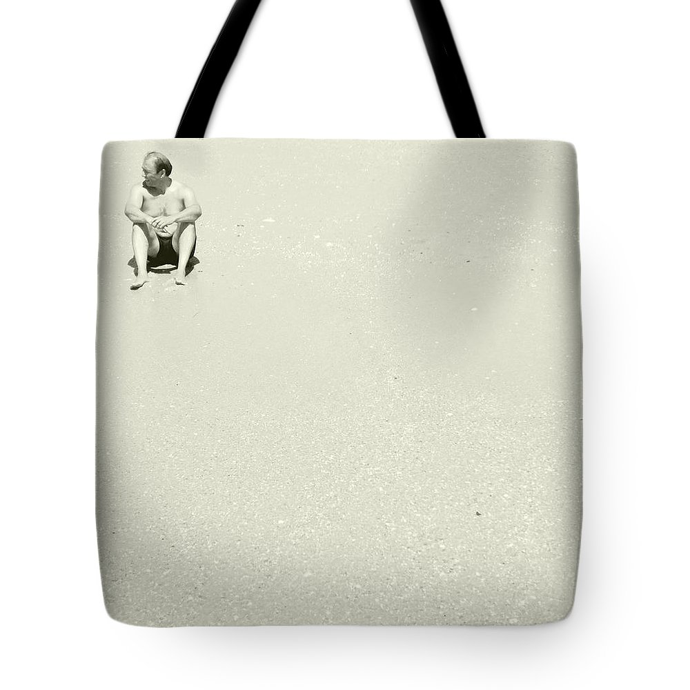 Solitary Man Tote Bag featuring the photograph Untitled 20150821 by Marco Oliveira