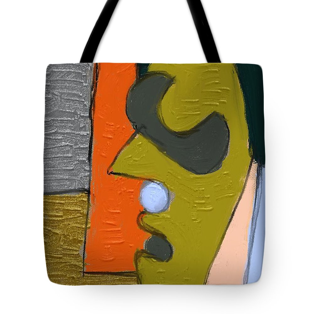 Fine Art Tote Bag featuring the painting Untitled 646 by Nedunseralathan R